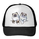 Ragdoll Cats Pair of Dolls Off-Leash Art™ Hats