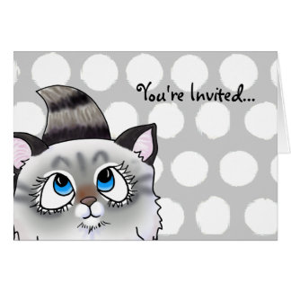Ragdoll Cutie Face Kitten Card