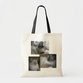 Ragdoll Himalayan Cat Kitty Christmas Collage Tote