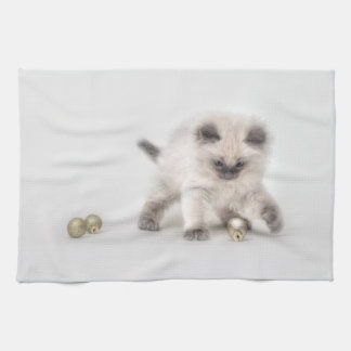 Ragdoll Kitten tea towel