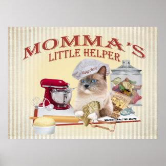 Ragdoll Momma's helper Prints