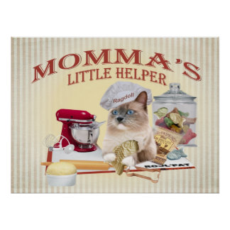 "Ragdoll Momma's ""Lit  Helper Poster"