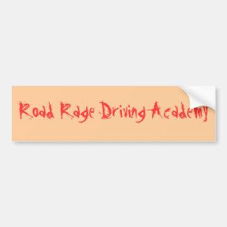 Rage de route conduisant l'académie autocollant de voiture