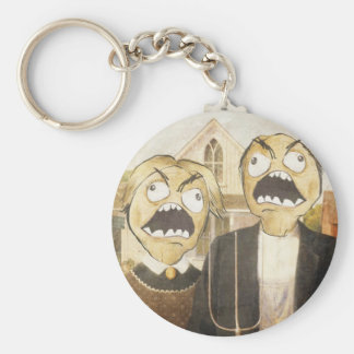 Rage Face Meme Face Comic Classy Painting Keychains