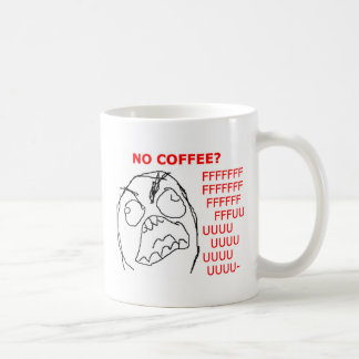 Rage Face No Coffee Coffee Mug