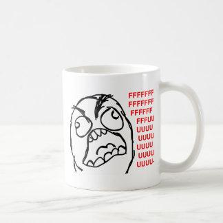 rage face rage comic meme lol rofl classic white coffee mug