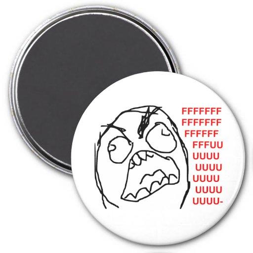 Rage Guy Angry Fuu Fuuu Rage Face Meme Magnets