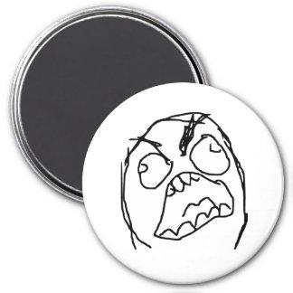 Rage Guy Angry Fuu Fuuu Rage Face Meme 3 Inch Round Magnet