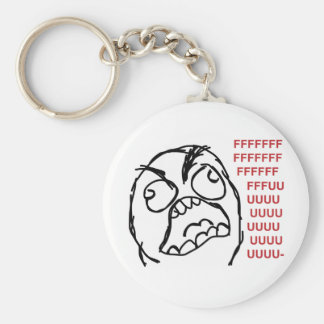 Rage guy fuuu fuuuu key chains