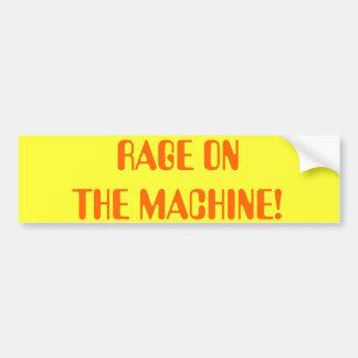 RAGE ON  THE MACHINE! CAR BUMPER STICKER