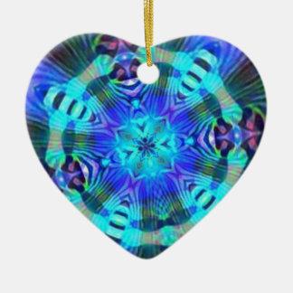 Rage Psychedelic Ceramic Heart Ornament