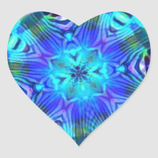 Rage Psychedelic Heart Sticker
