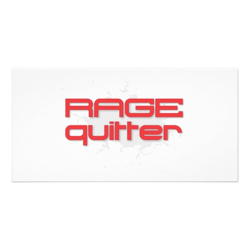 Rage Quitter Gamer Personalized Photo Card