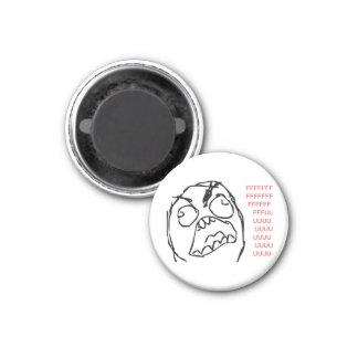 Rage Troll 1 Inch Round Magnet