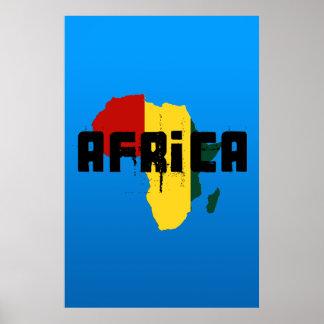 Ragga Africa Reggae style map of Africa Poster