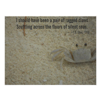 Ragged Crab Claws Poem Poster