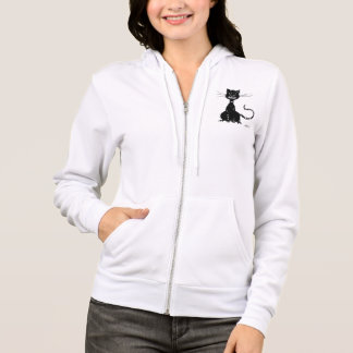 Ragged Evil Black Cat Womens Hoodie