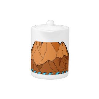 Ragged Mountain Waves Mono Line