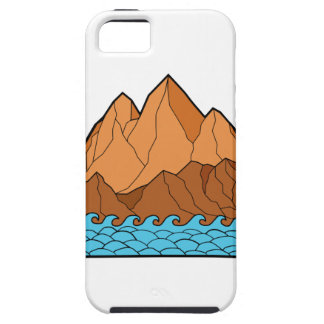 Ragged Mountain Waves Mono Line Case For The iPhone 5