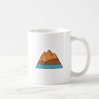 Ragged Mountain Waves Mono Line Coffee Mug