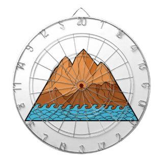 Ragged Mountain Waves Mono Line Dartboard