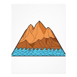 Ragged Mountain Waves Mono Line Letterhead