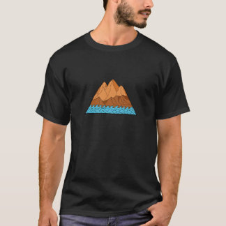 Ragged Mountain Waves Mono Line T-Shirt