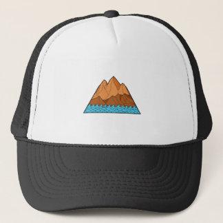 Ragged Mountain Waves Mono Line Trucker Hat