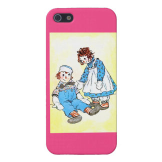 Raggedy Andy & Ann illustration iPhone 5 Case