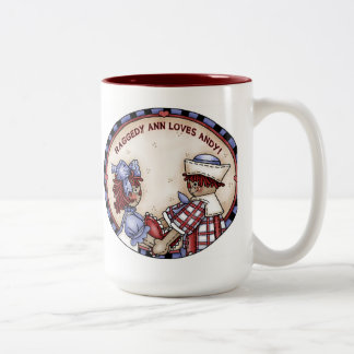 Raggedy Ann and Andy mug