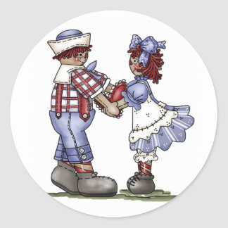 Raggedy Ann and Andy stickers