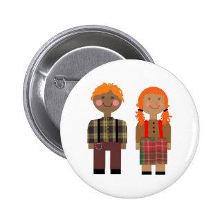 Raggedy Ann & Andy 2 Inch Round Button