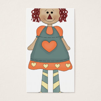 Raggedy Ann Blue Business Card
