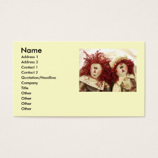 Raggedy Dolls Business cards... Business Card