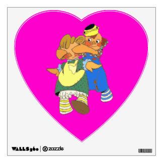 Raggedy Dolls Heart Wall Decal