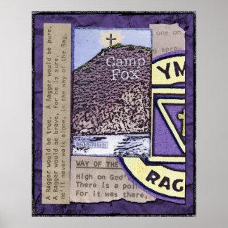 Raggers : Crête de bibles avec l'emblème et les te Poster