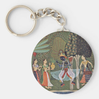 Râginâ Vasanta (Spring) Krishna Dancing To The Mus Keychain