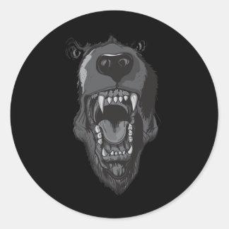 Raging Bear Classic Round Sticker