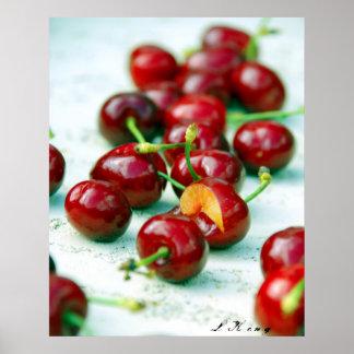 raging cherries poster