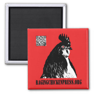 Raging Chicken Press magnet