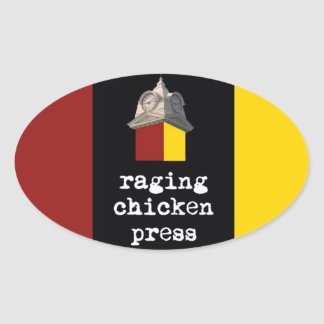 Raging Chicken Press Oval Tri-Color Sticker