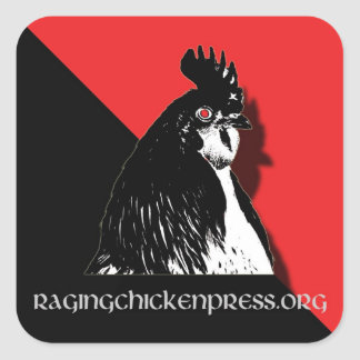 Raging Chicken Press Red and Black Sticker