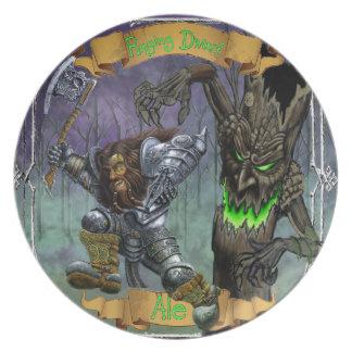 Raging Dwarf Ale Dinner Plates