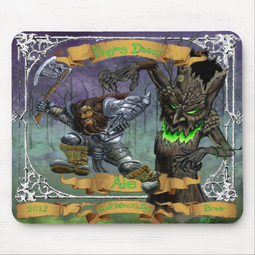Raging Dwarf Ale Mouse Pads