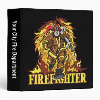 Raging Flames Firefighter Binder