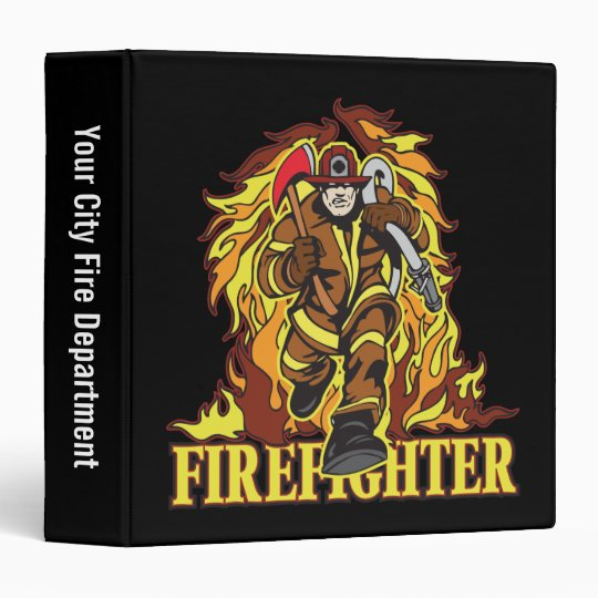 Raging Flames Firefighter Binder