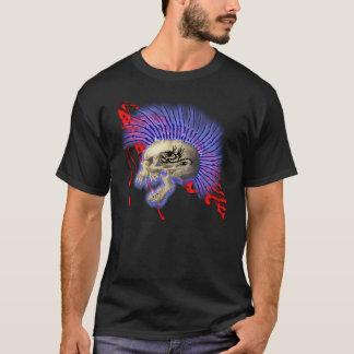 Raging Mohawk Skull and Flag T-Shirt