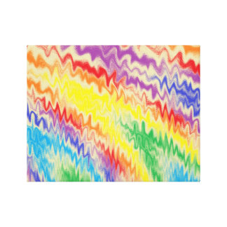Raging Rainbow Fire Lines Canvas Print
