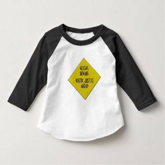 Raglan d'enfant en bas âge de bavardage pas t-shirt