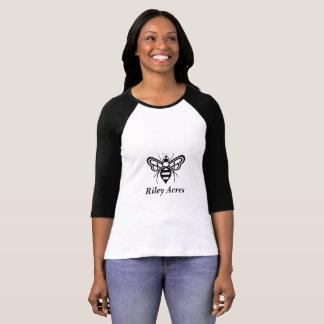 Raglan style t-shirt advertising Riley Acres Honey